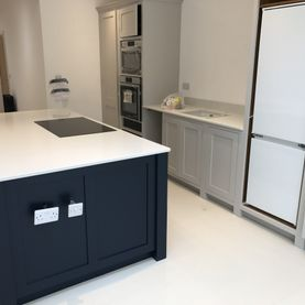 Dark Painted Kitchen