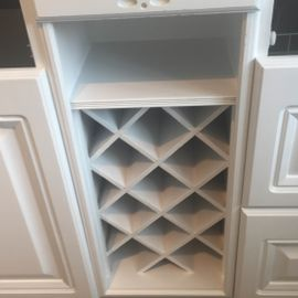 Hand Painted Wine Rack